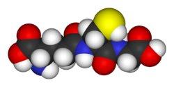 Modelo tridimensional del glutatión